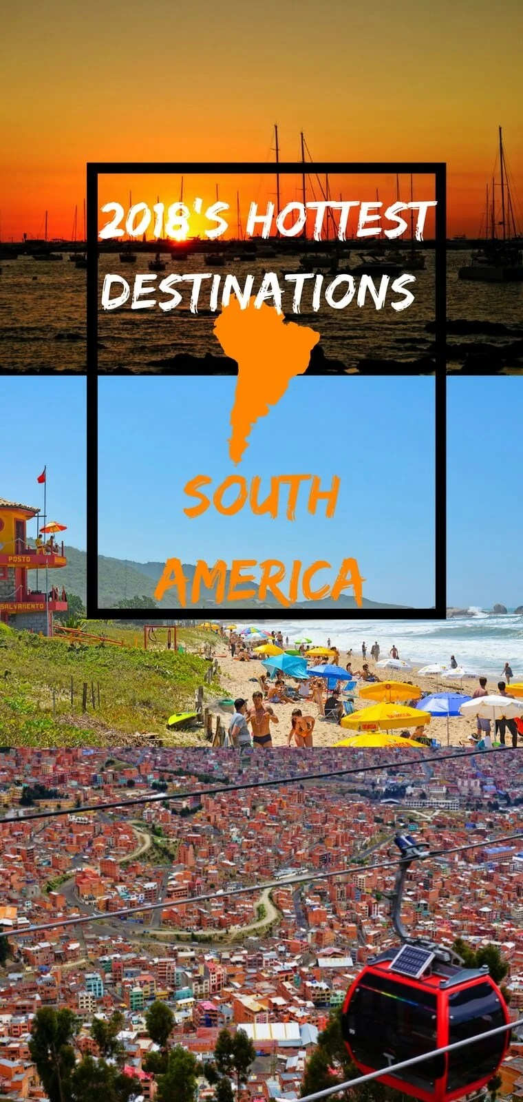 Looking for ideas on where to travel in South America? Don't miss these off the beaten path destinations in South America. From a fishing town in Peru, to Bolivia's capital, to a beach resort in Brazil, there is a lot to see in South America.
