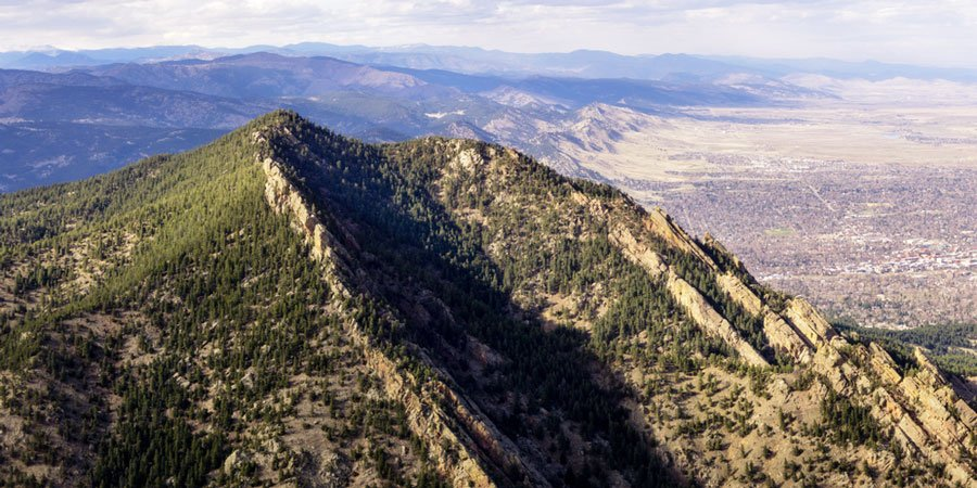 View of Bear Peak from above