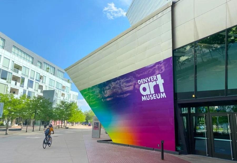 View outside the Denver Art Museum