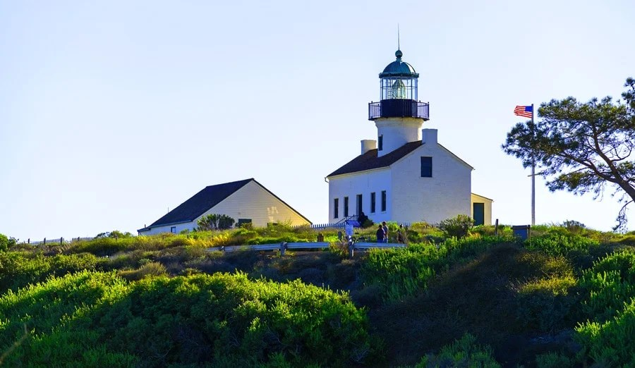 View of Point Loma Lighthouse in San Diego