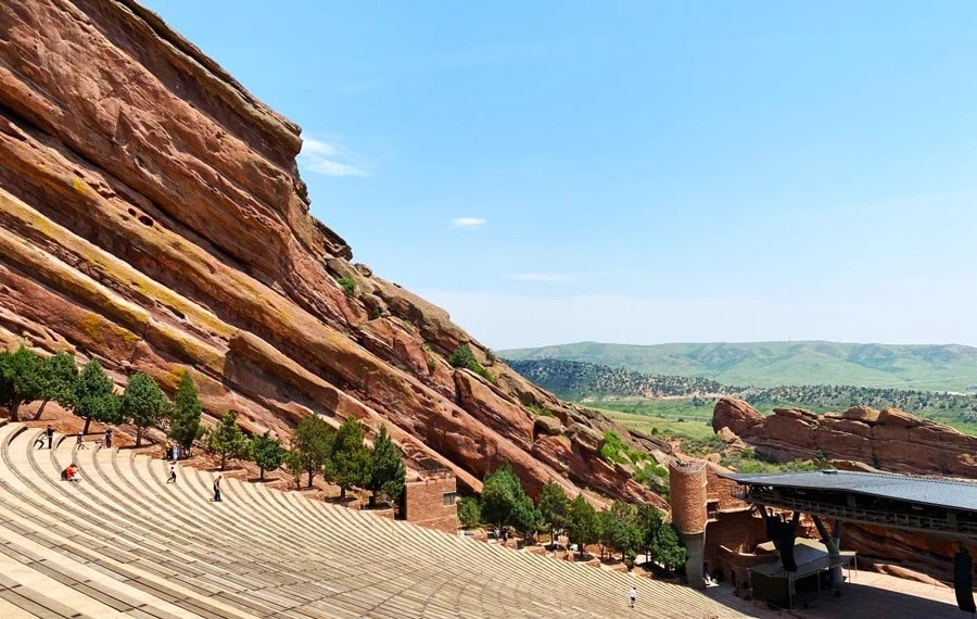 View of the famous Red Rocks Amphitheatre