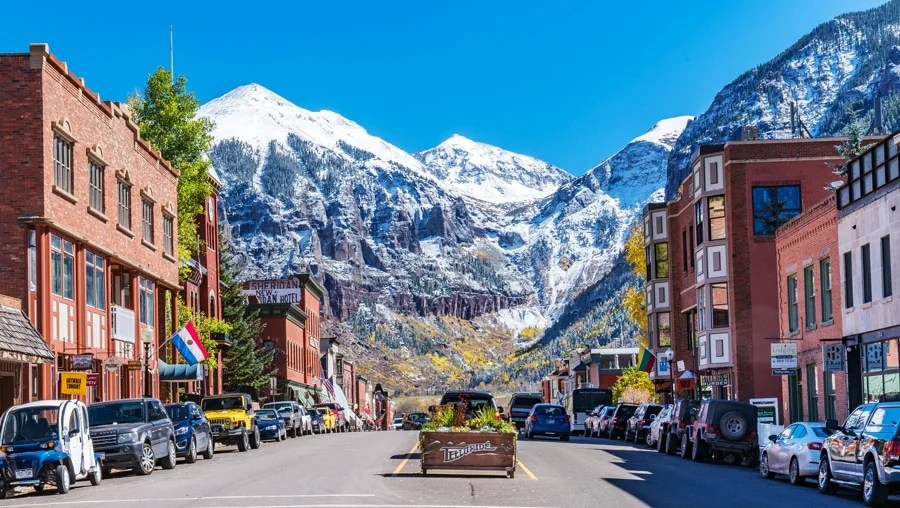 View of a normal day in Telluride