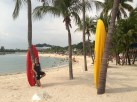 One of Sentosa beaches…and myself :)