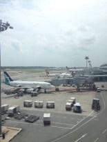 B737 at Singapore Airport