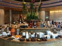 Indoor breakfast buffet