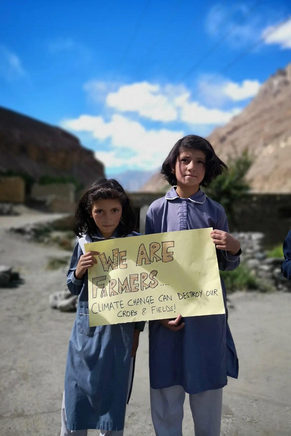 Boerenkinderen in Noord-Pakistan