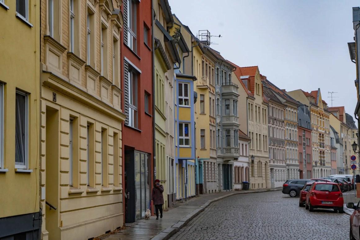 Mooie gevel in Brandenburg an der Havel