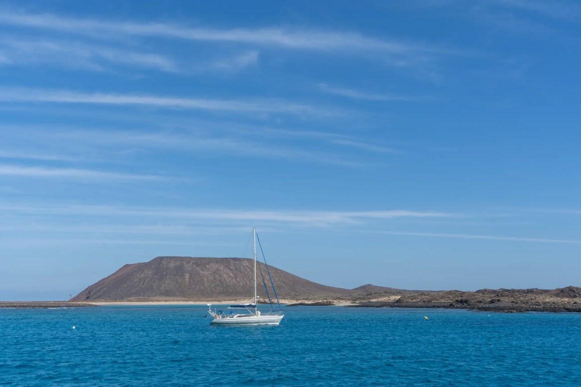 Uitzicht op de Isla de Lobos voor Fuerteventura