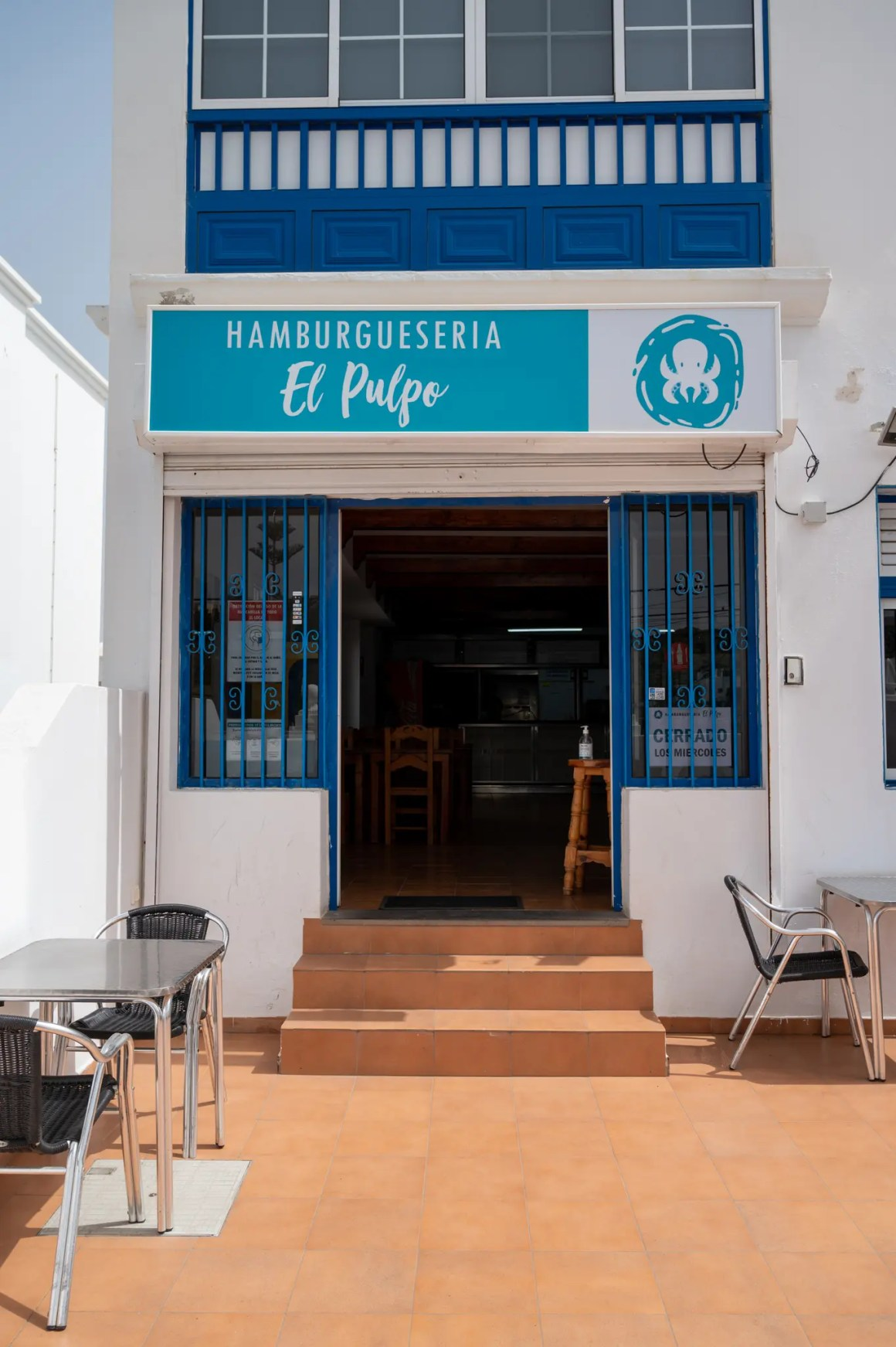 Een van de eenvoudige restaurants op Lanzarote
