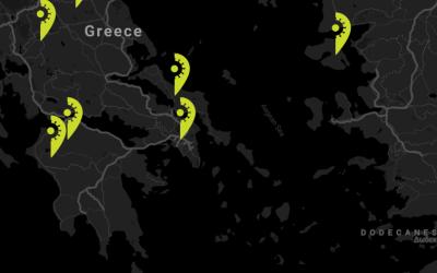 Live χάρτης με τα κρούσματα κορονοϊού στις πόλεις της Ελλάδας.