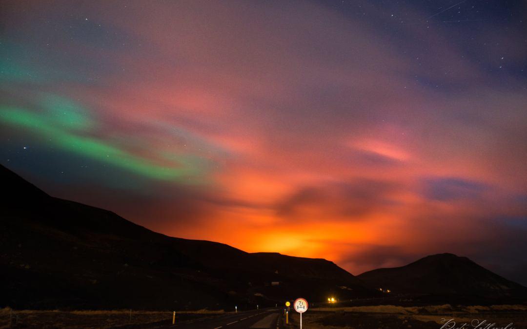 Ισλανδία: Δείτε εντυπωσιακές φωτογραφίες και το Βόρειο Σέλας πάνω από το ενεργό ηφαίστειο Fagradalsfjall