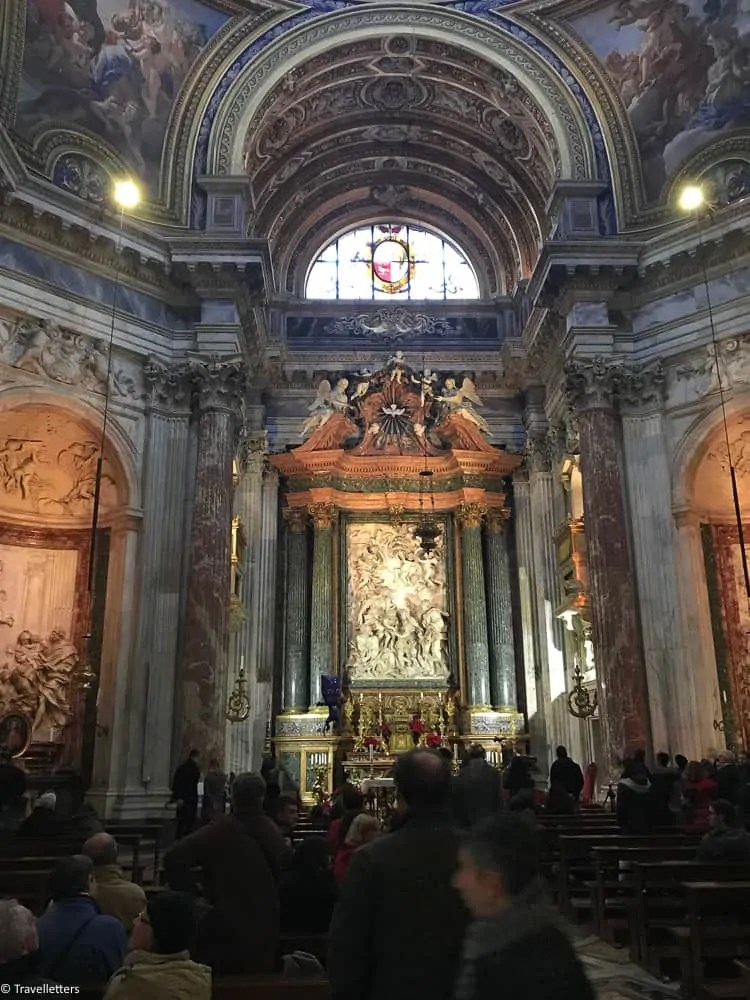 the church of Sant Agnese in Agone, visit Rome in winter, 2 days itinerary