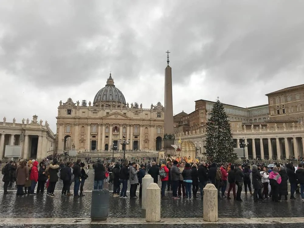 St. Peter's Square, visit Vatican, visit St. Peter's Basilica, visit Rome in winter, 2 days itinerary