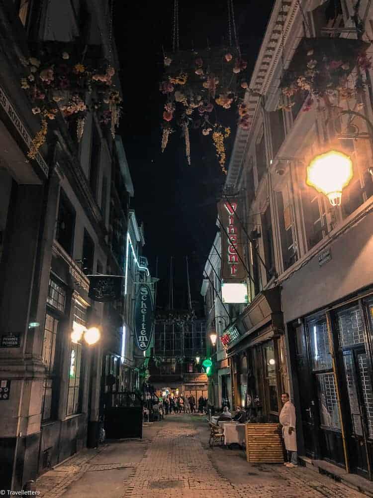 Gamlebyen Brussel på kvelden