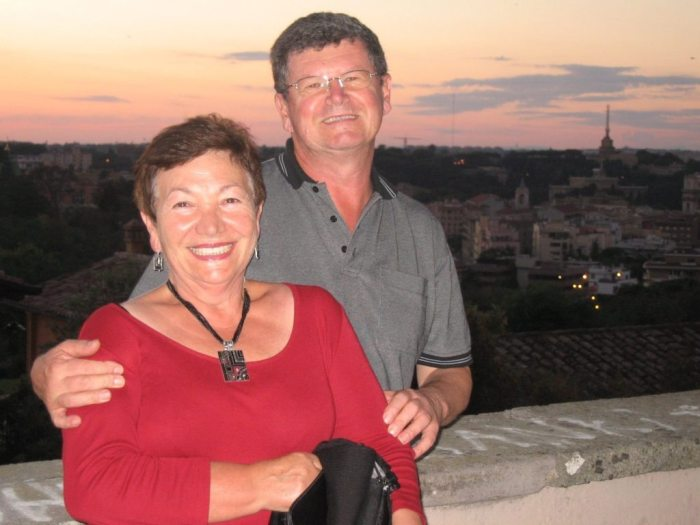 Gina and Walter - mum and dad, in Rome 2012