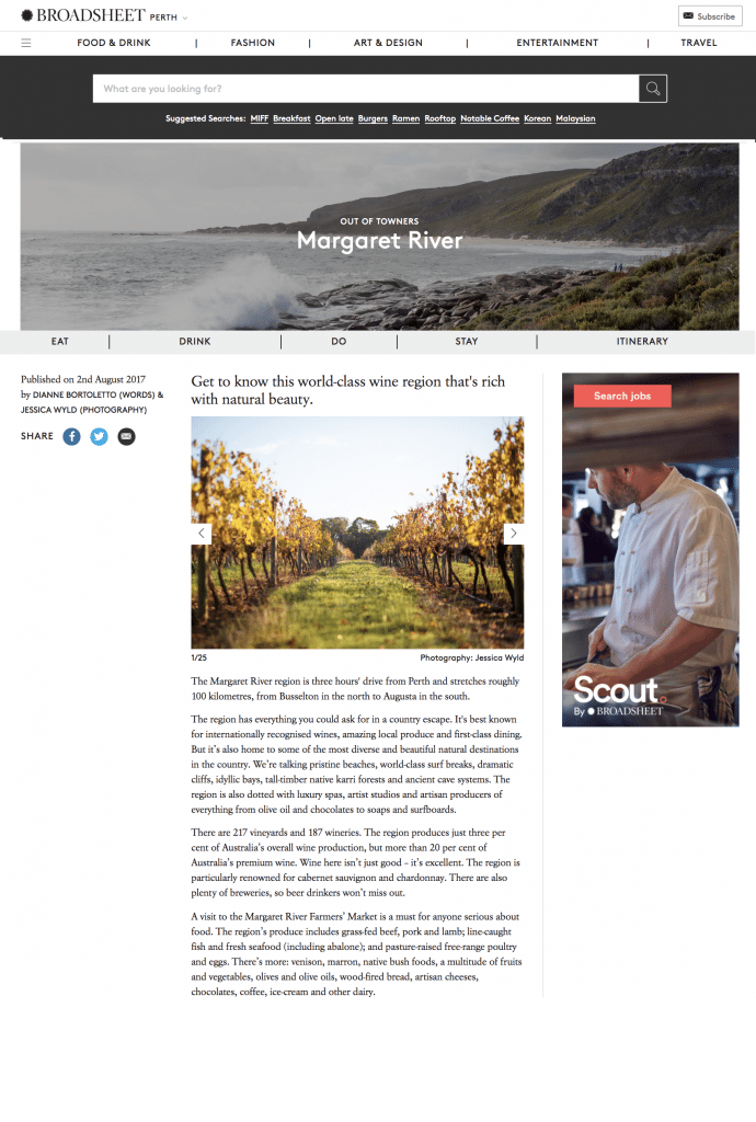 Broadsheet Margaret River