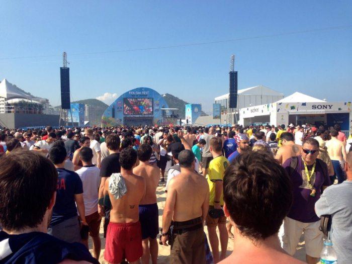 FIFA Fan Fest, Copacabana Beach, Rio