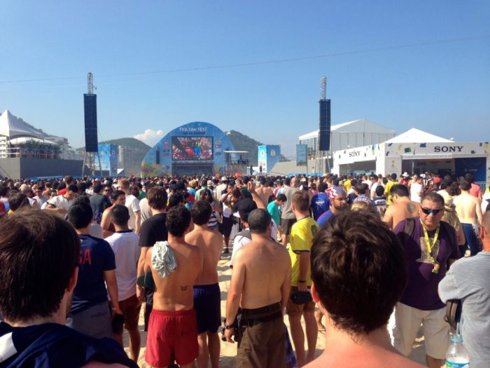 FIFA Fan Fest, Copacabana Beach, Rio