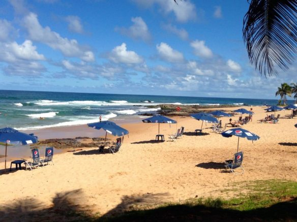 The beach at Stella Maris, Salvador