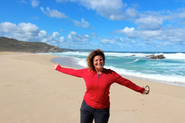 Me at Canal Rocks beach in the Margaret River region in winter