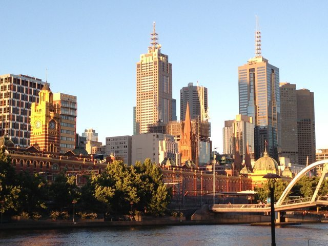 Melbourne Yarra River and City Skyline