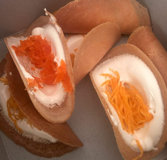 Crisp sweet Thai crepe