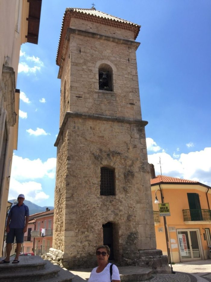 The original bell tower in Lioni