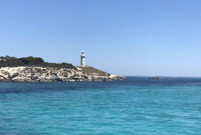Rottnest lighthouse from boat