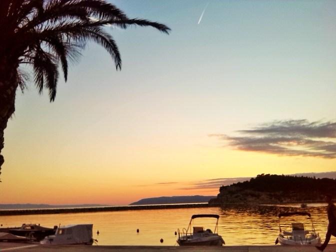 Sonnenuntergang in Makarska