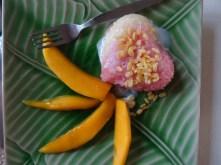 Klebriger Reis mit Mango