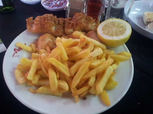 Local fish and chips