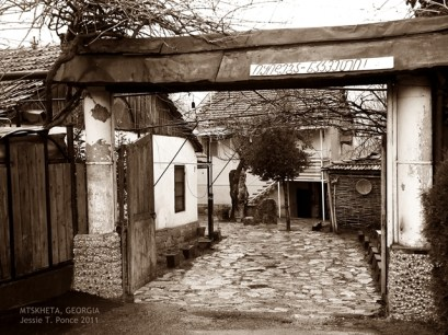 An interesting yard at Mtskheta