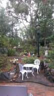 Garden at rear of Michael's Restaurant