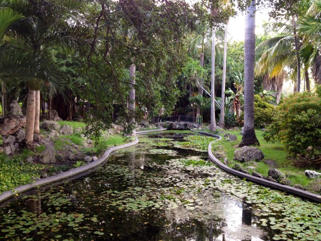 A hidden pond within Bayfront Park