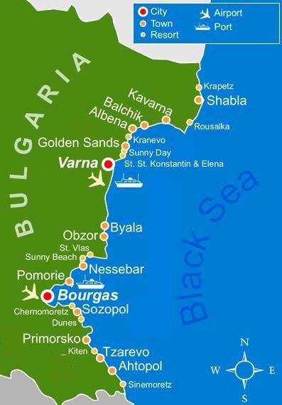 bulgaria black sea map Bulgaria Travel Guide Everything You Need To Know bulgaria black sea map