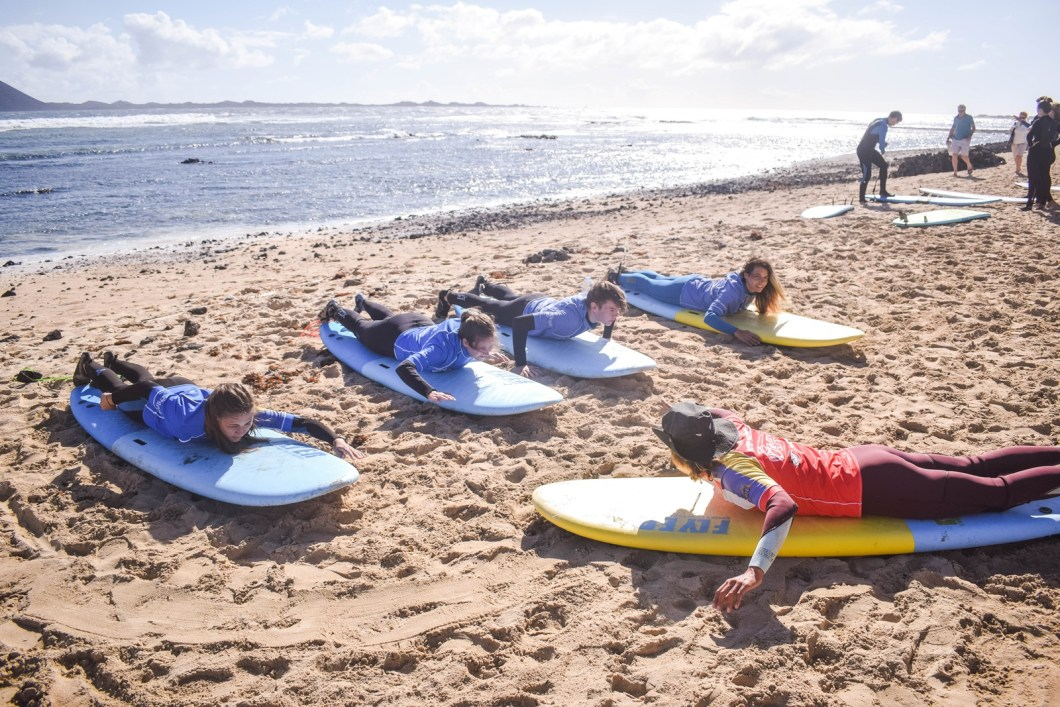 things to do in corralejo - learn how to surf