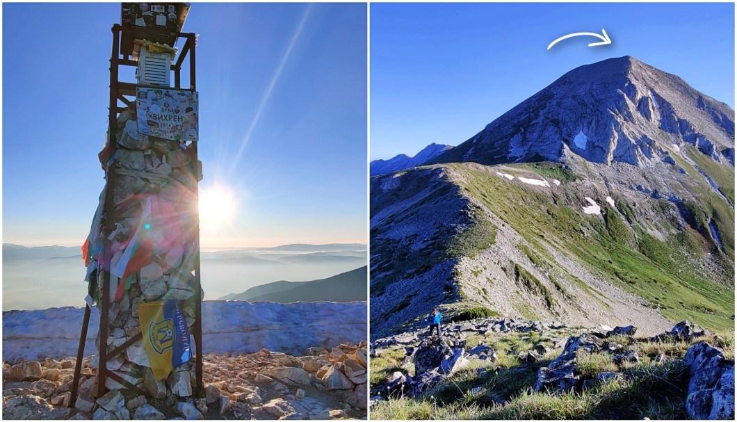 Vihren Peak in Pirin mountainsnear Bansko Bulgaria