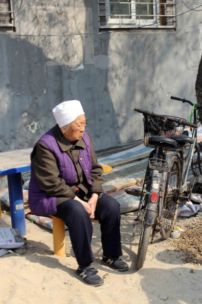 Local elderly Lady in a Hutong, Beijing