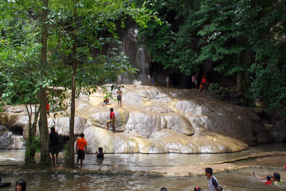 Sai Yok Noi Waterfall Kanchanaburi Thailand Asia