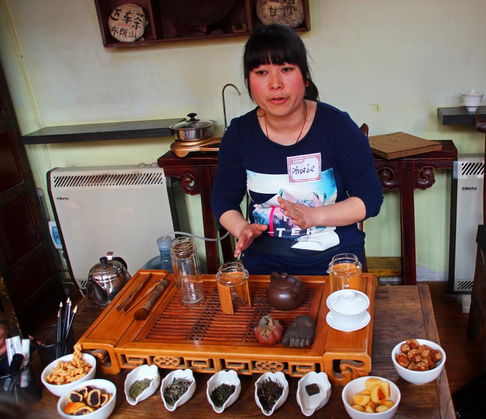 Tea tasting Beijing China