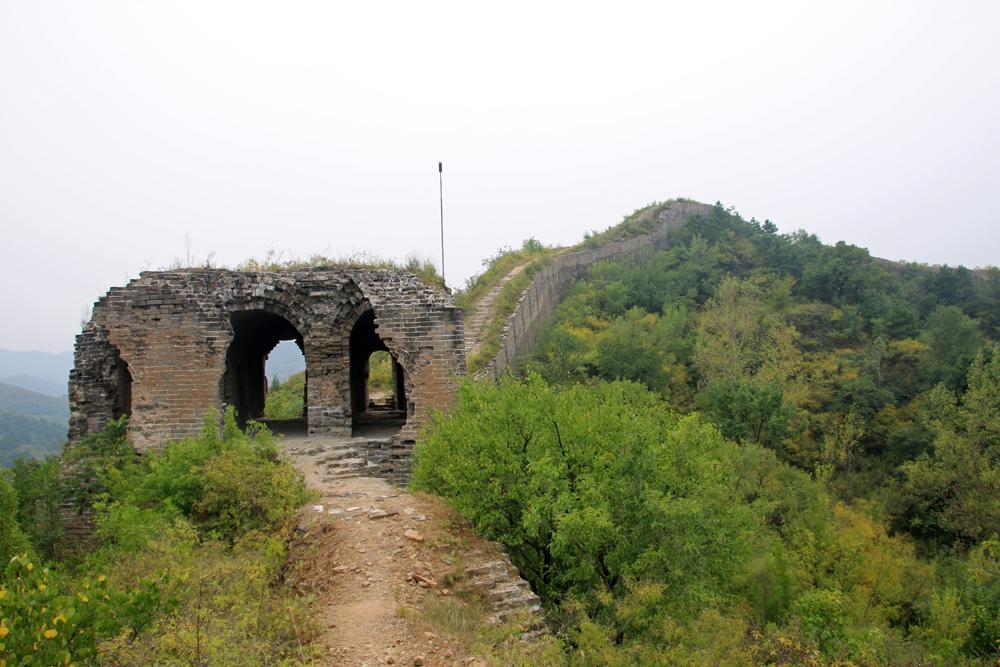 Wachturm Chinesische Mauer Gubeikou Miyun Hebei Peking China Asien