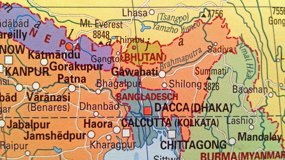 Reiseblogger verraten ihre Tipps für Bhutan - Landkarte von Bhutan