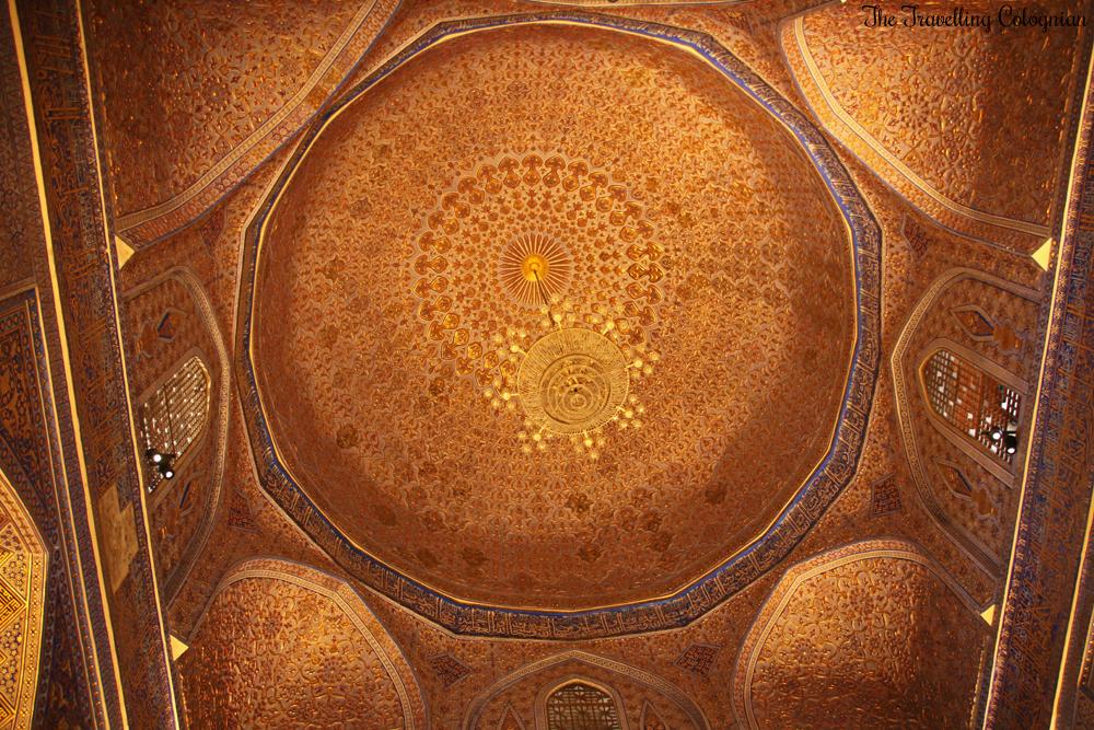 The Jewels of Samarkand - the Gur-E-Amir Mausoleum - golden ceiling