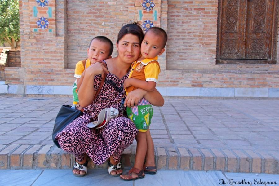 The Jewels of Samarkand - Gur-E-Amir Mausoleum - Uzbek Mom with children
