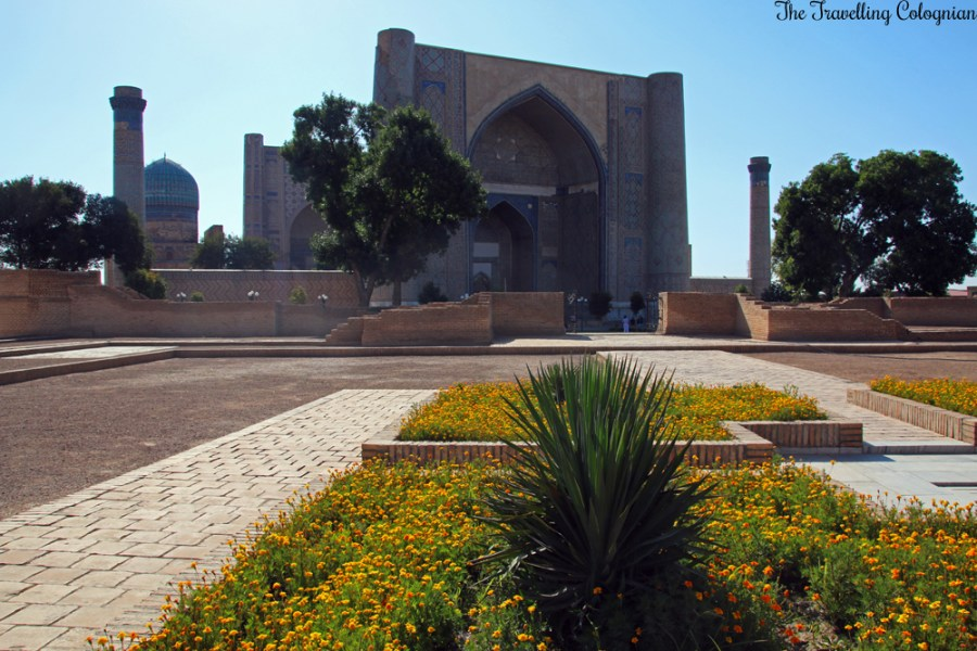 The Jewels of Samarkand - Bibi Khanym Mosque, seen from the Bibi Khanym Mausoleum