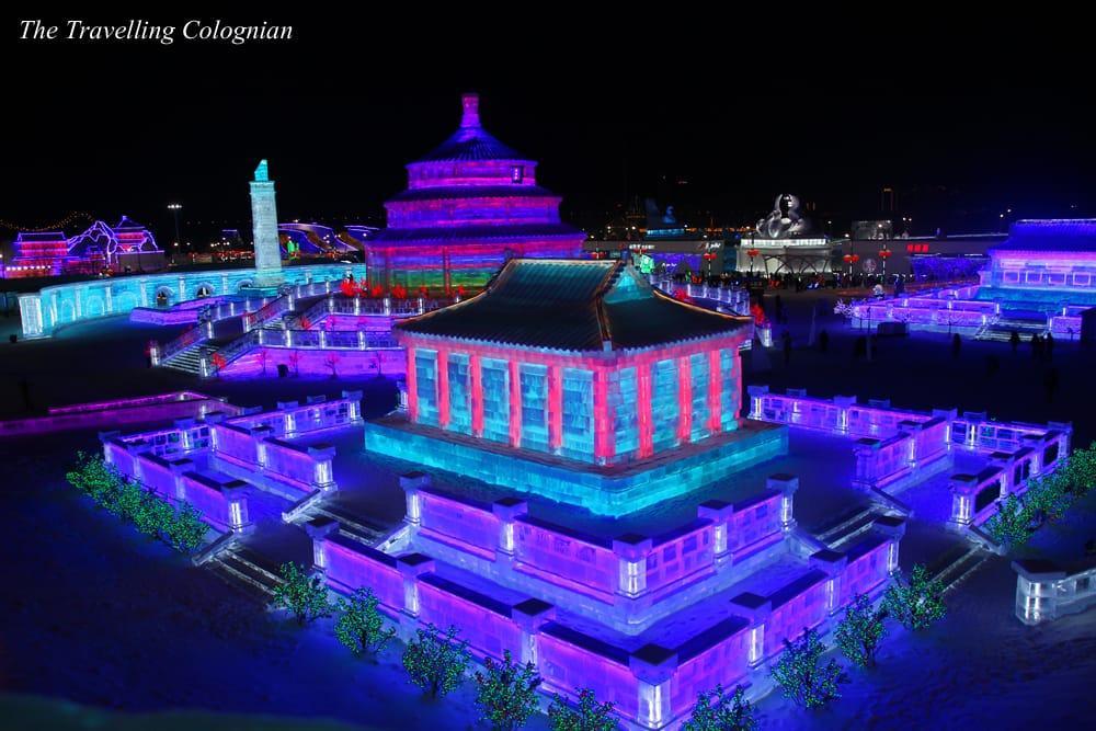Harbin Schnee- und Eisfestival, Eis- und Schneewelt Harbin, Heilongjiang, China, Ostasien, ASIEN