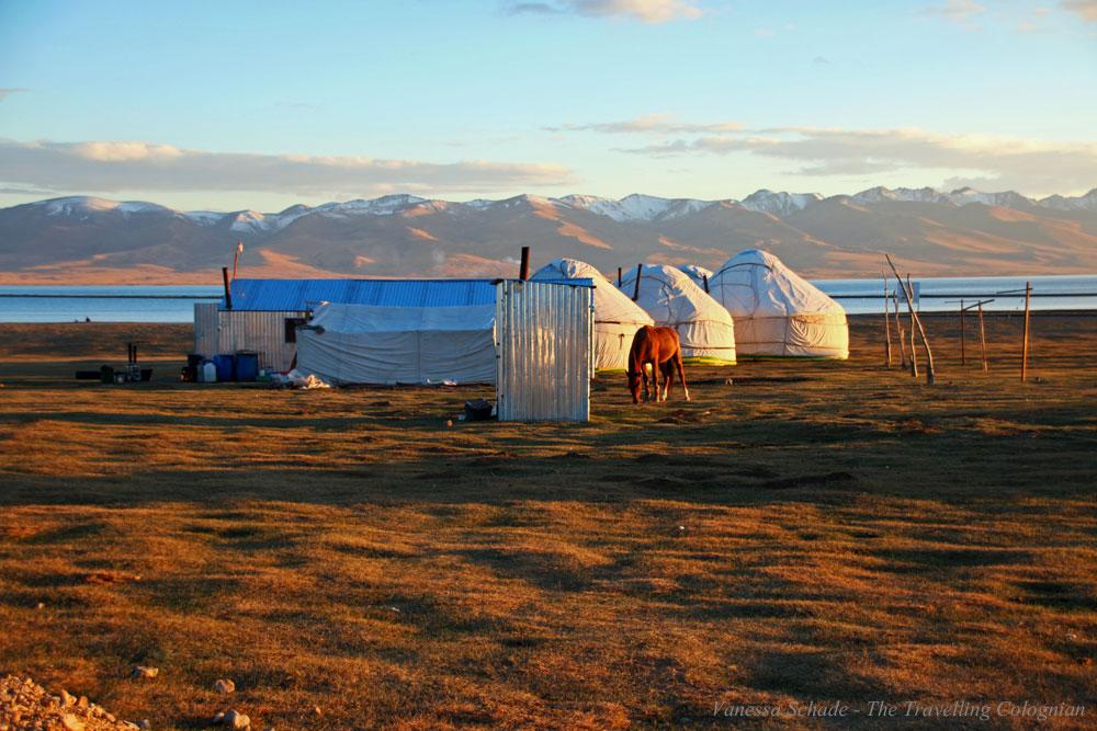 Yurts Lake Songkul Kyrgyzstan Central Asia ASIA