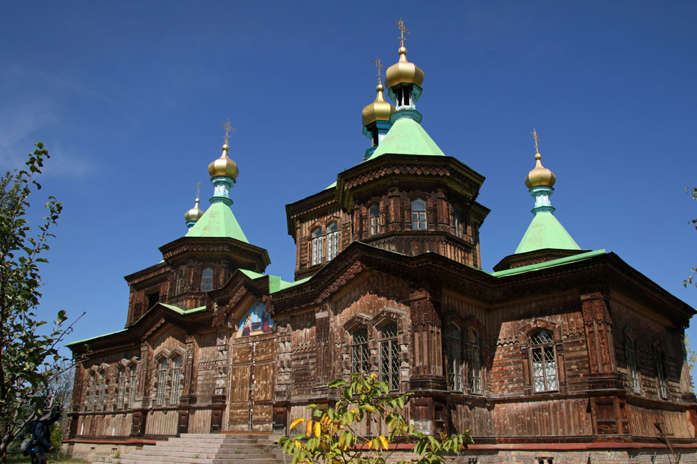 Russian Orthodox Cathedral Karakol Kyrgyzstan Central Asia ASIA