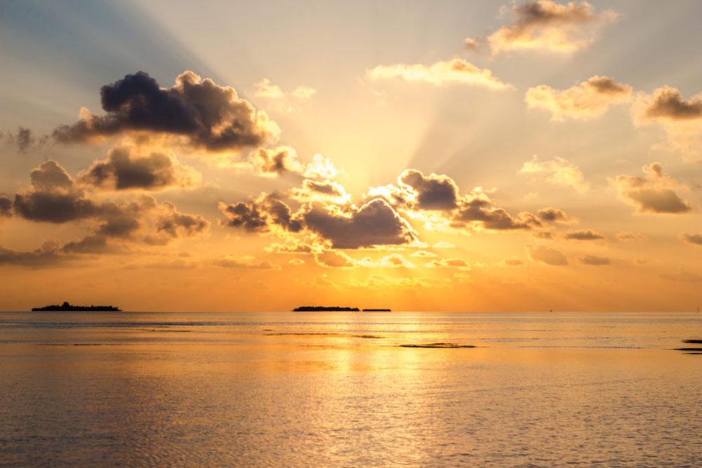 Sonnenuntergang Malediven Südasien ASIEN