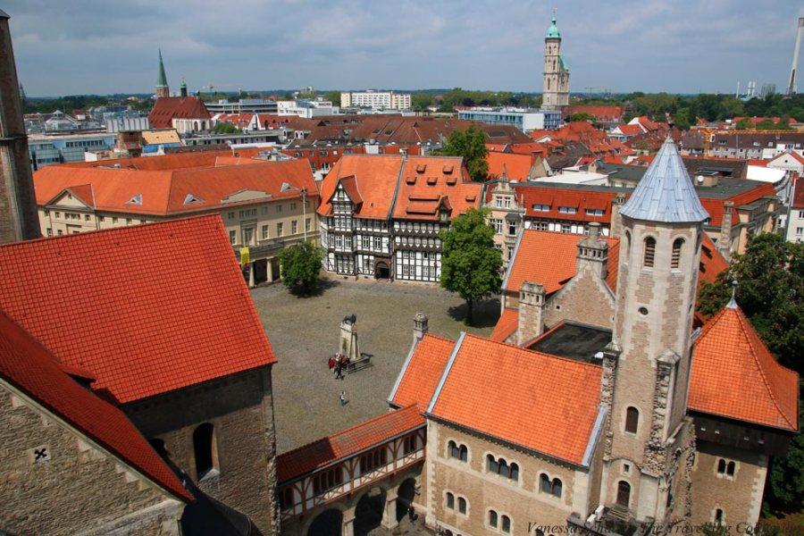Burgplatz Braunschweig von oben Braunchweig Niedersachsen Deutschland EUROPA